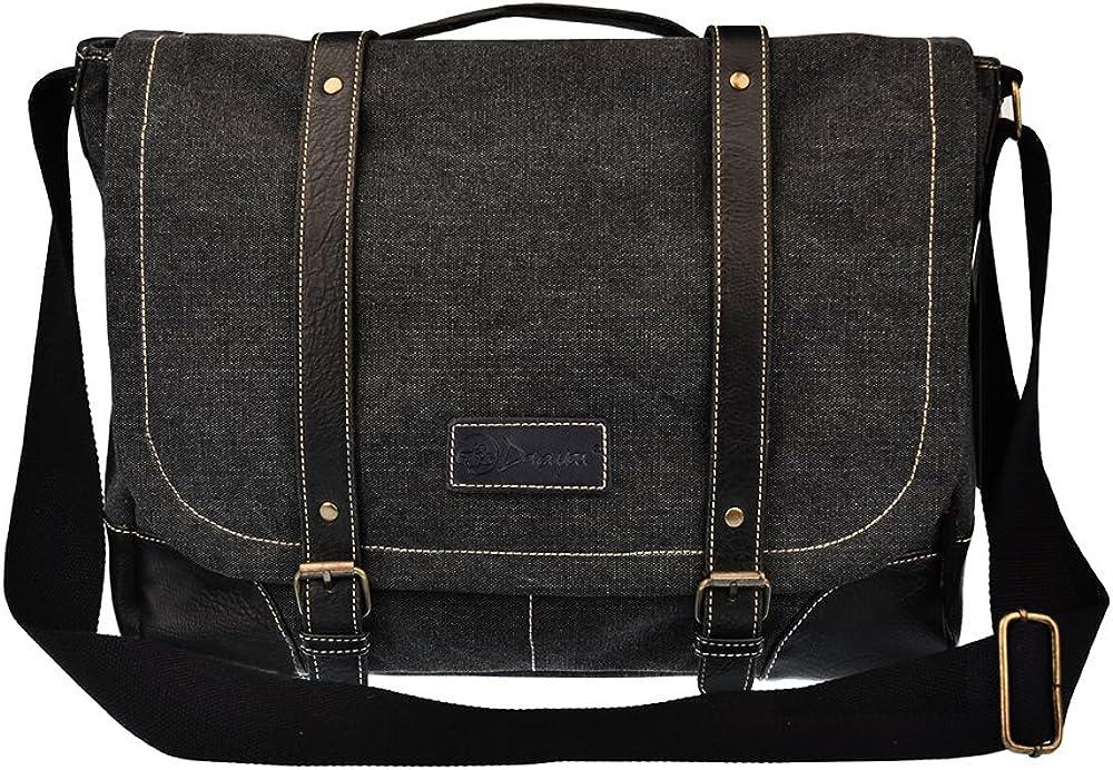 Laptop Messenger Bag for Men Canvas Messenger Bag Briefcase 261