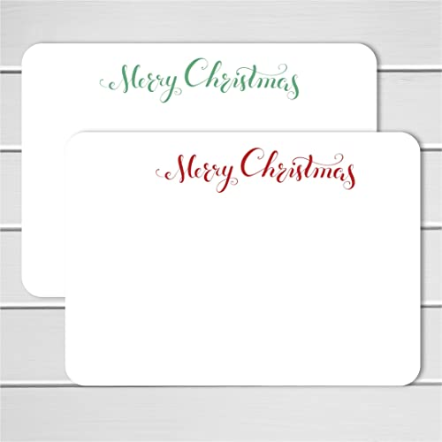merry christmas note cards 24pk personalized flat note cards printed without envelopes - Personalized Flat Note Cards