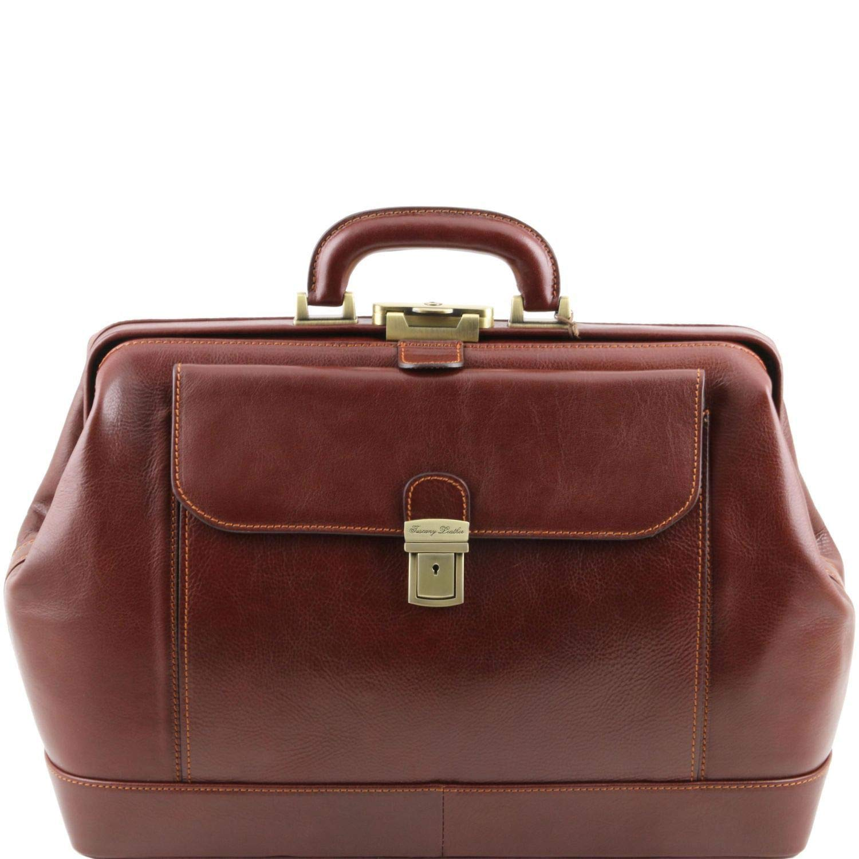 Tuscany Leather Leonardo Elégante Mallette médecin en Cuir Marron