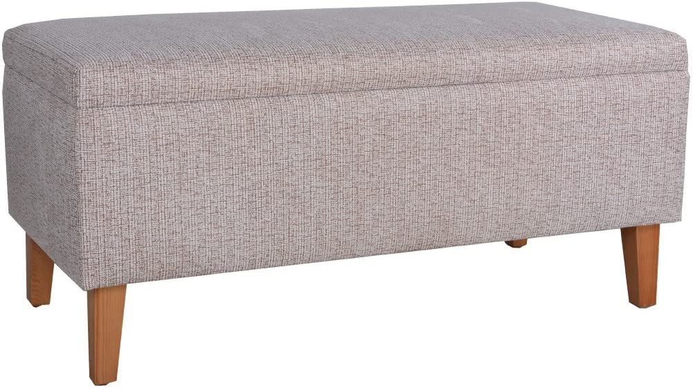 Porthos Home Penny Storage Bench, Brown