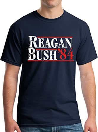 New York Fashion Police Reagan Bush 1984 Republican Presidential Election GOP T-Shirt - Vintage/Distressed