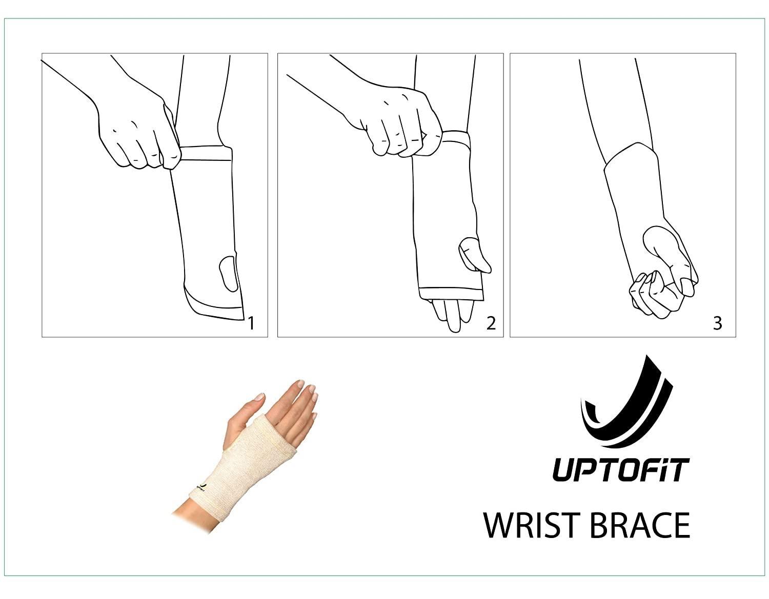 b8701d865b Amazon.com: UPTOFIT Copper Wrist Sleeve Support Carpal Tunnel Compression  Hand Brace Lightweight All Day and Night Support for Arthritis Tendonitis  Bursitis ...