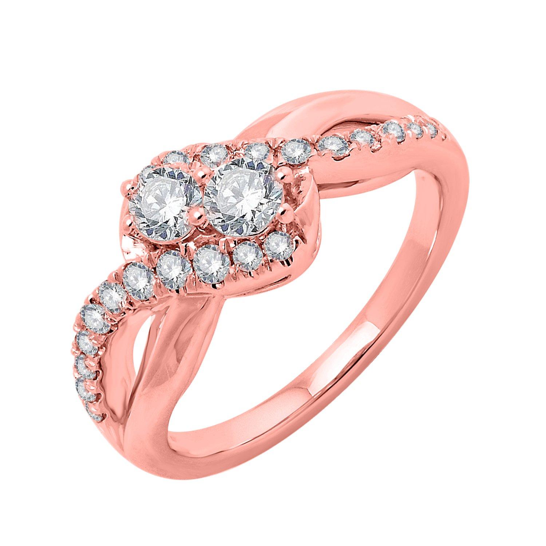 IGI Certified Diamond Engagement Ring in 10k Gold (0.79 Carat ...