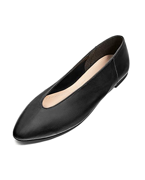 6c12a277539 Zara Women V-cut leather ballerinas 7268/201 (39 EU | 8 US | 6 UK ...