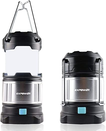 Expower IPX5 Farol portátil de camping, impermeable, USB, con batería integrada recargable de 4400 mAh, 4 modos de luz, muy luminosa, max. 185 ...