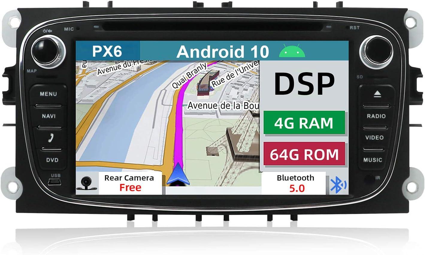 Yuntx Android 10 Autoradio Passt Für Ford Mondeo S Max Elektronik
