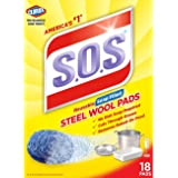 S.O.S Steel Wool Soap Pads, 18 Count (Pack of 12)