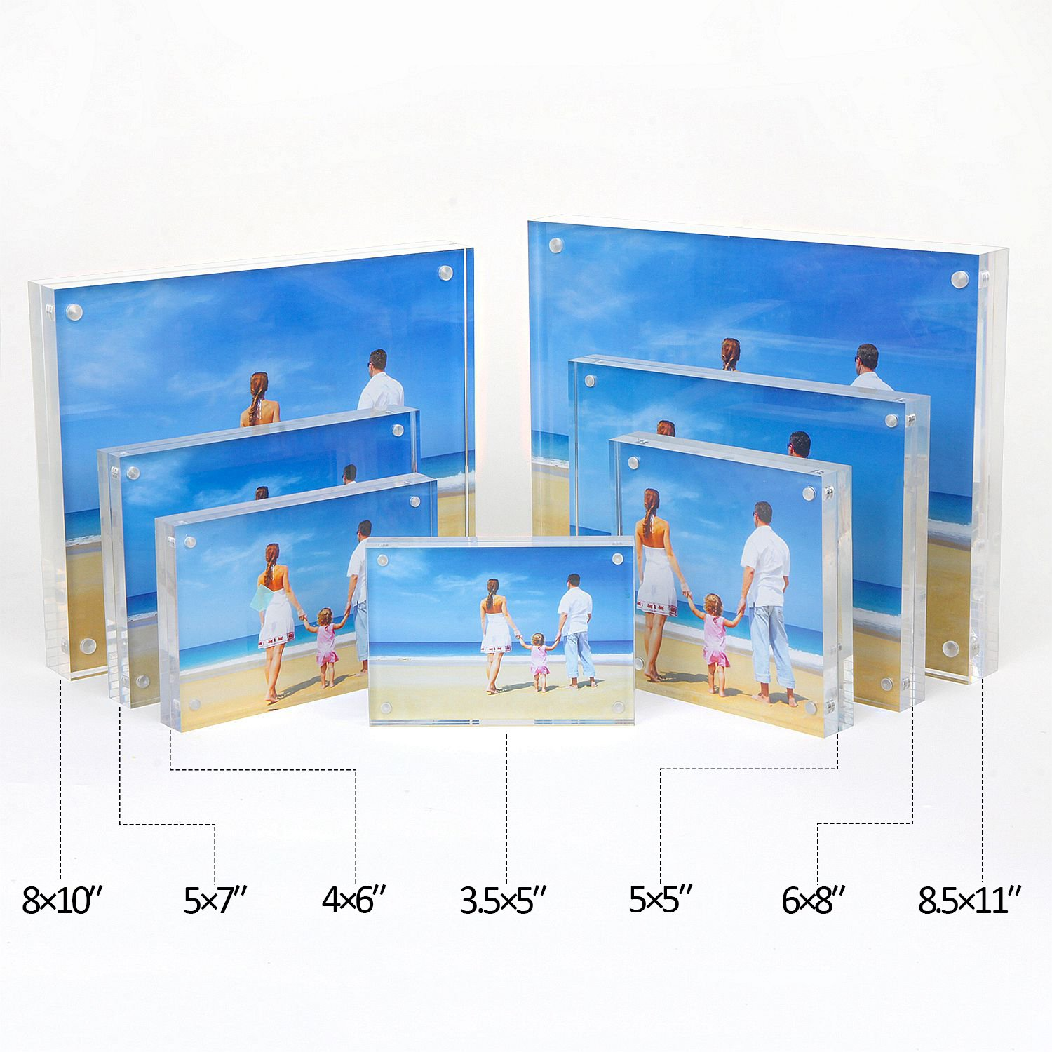 Niubee Acrylic Picture Frames 6x8\
