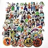 50pcs anime Dragon Ball pegatinas Super Saiyan Goku pegatinas Decal para Snowboard equipaje auto nevera portátil