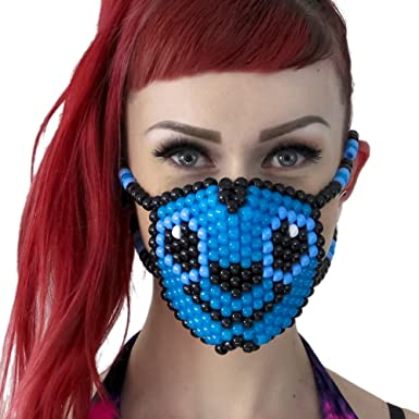Kandi Gear Mascara Kandi de Stich de Lilo y Stitch, mascara rave ...