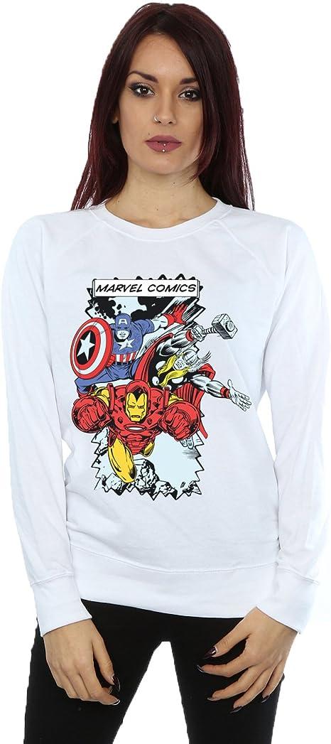 Marvel Mujer Comic Characters Camisa de Entrenamiento: Amazon.es: Ropa y accesorios