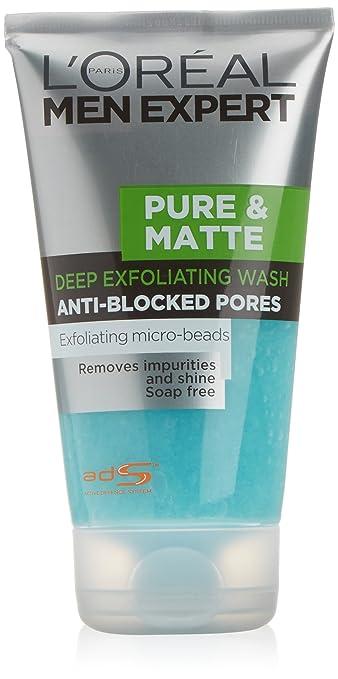 Men Expert Pure Matte Exfoliating Gel by L'Oreal #17