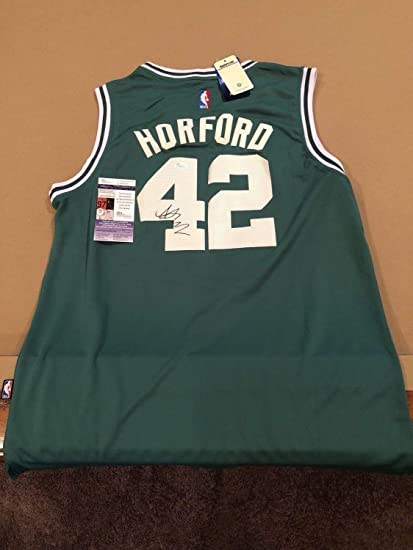 06218a1bd554 Image Unavailable. Image not available for. Color  Al Horford Autographed  Signed Memorabilia Custom Boston Celtics Jersey ...