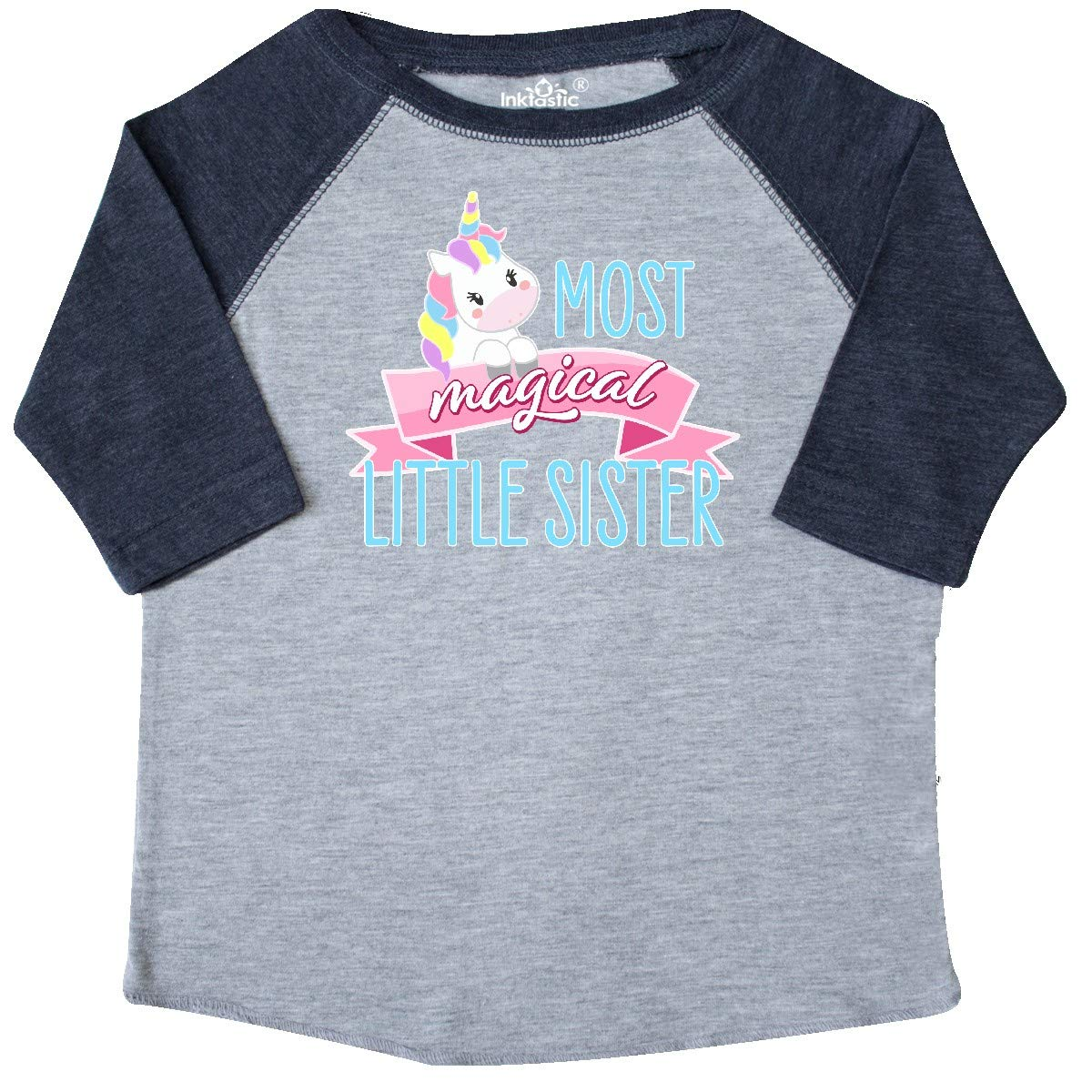 Cute Unicorn Toddler T-Shirt inktastic Most Magical Little Sister