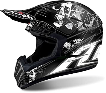 Airoh - Casco para cross Switch Scary, color negro mate, talla L