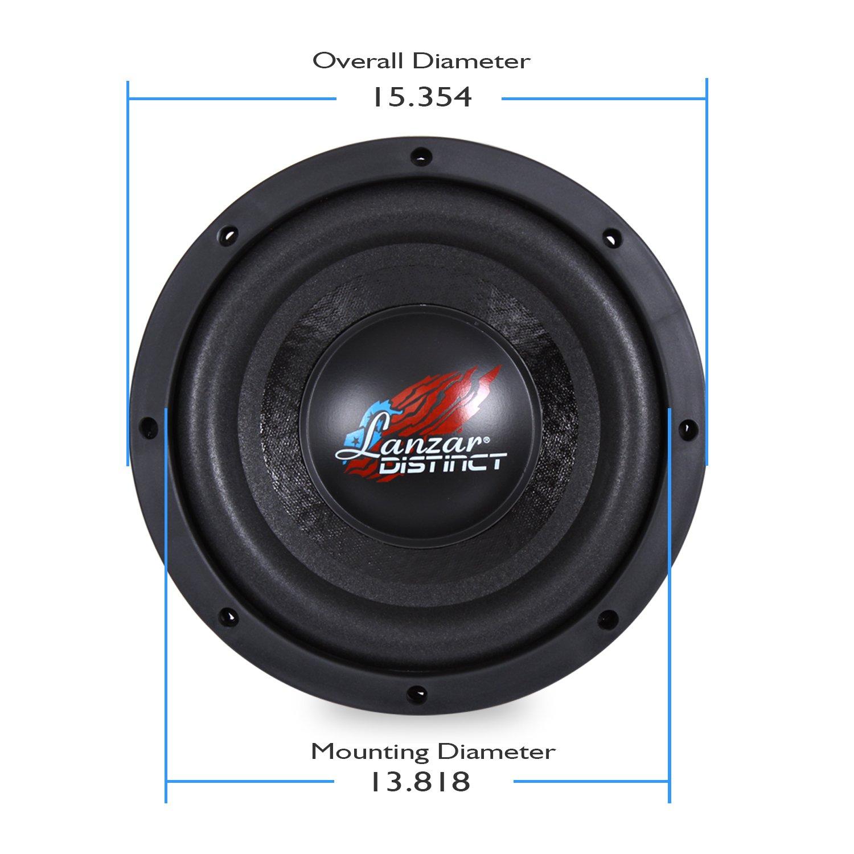 amazon com lanzar car subwoofer for audio stereo sound speaker rh amazon com Lanzar Speakers Lanzar 50C