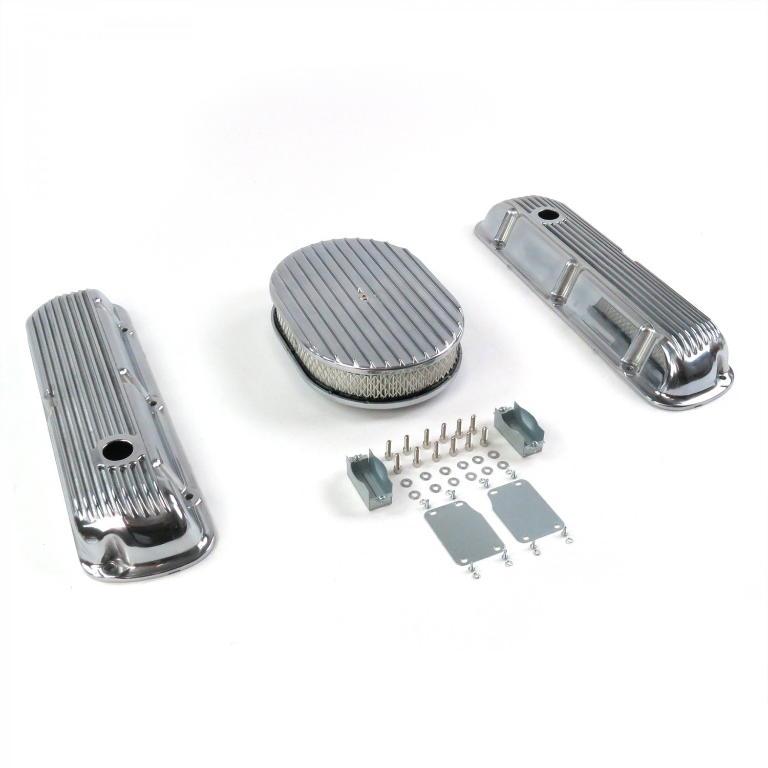 """Holes No Breathers 289-351 Vintage Parts 333797 12/"""" Full Oval//Finned Engine Dress Up kit"""