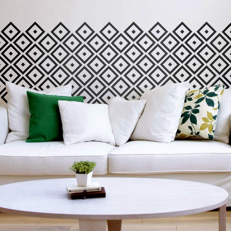 Set of 25 Vinyl Wall Art Decal - Rhombus Diamond Pattern - 5