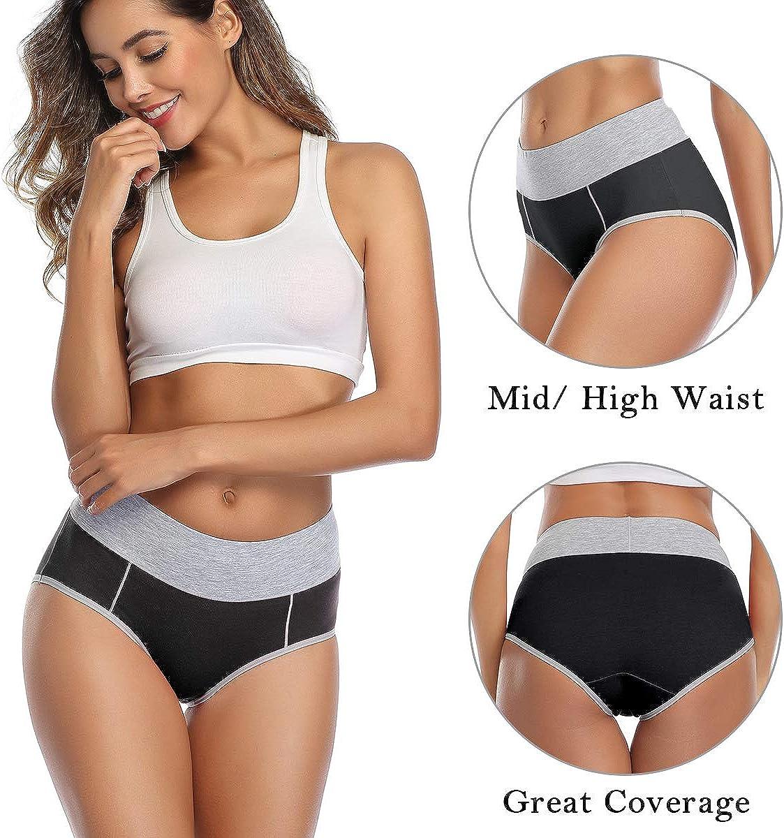 wirarpa Unterhosen Damen Unterw/äsche Baumwolle Taillenslip High Rise Slip