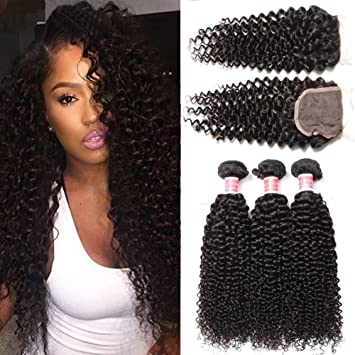 Beauty Princess Burmese Curly Hair Bundles With Closure Free Part 8a Grade 100 Unprocessed
