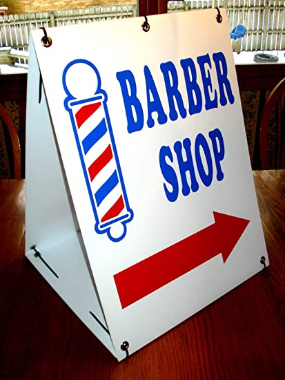 Amazon.com: Peter Select Barber Shop - Cartel con flecha y ...