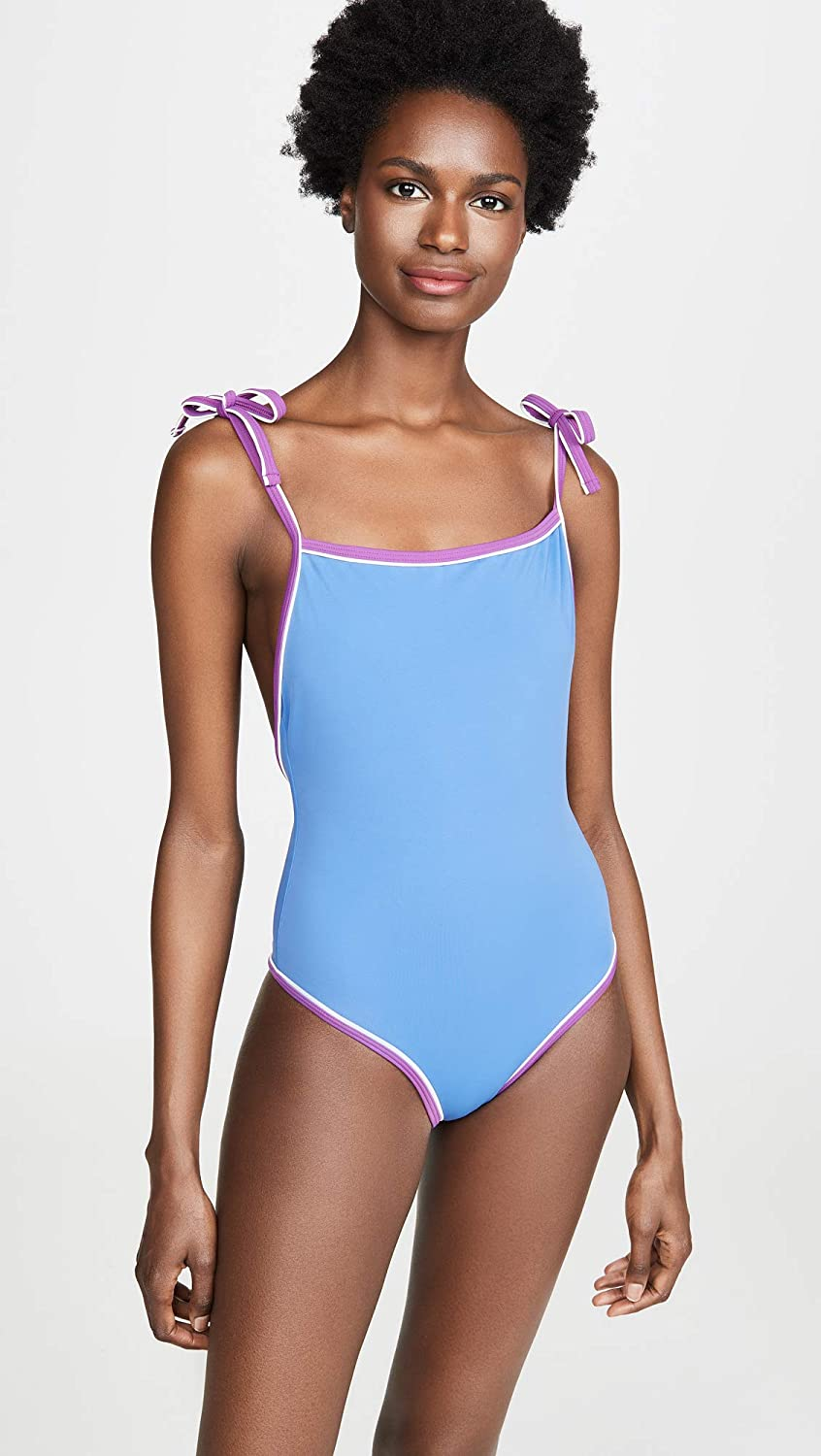 Solid /& Striped Womens The Poppy Tie One Piece Swimsuit