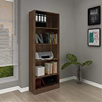 Tecnomobili Office Cabinet, Walnut - W 25.5 cm x D 59.8 cm x H 160 cm