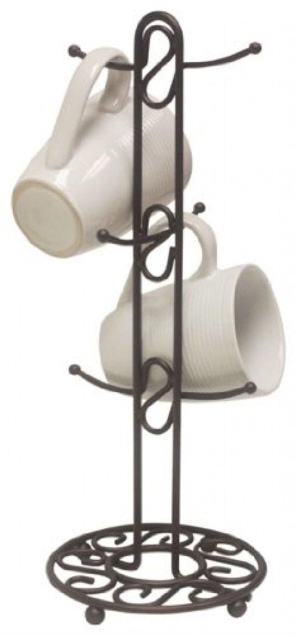 Countertop Coffee Mug/Cup Tree Holder by Home Basics Bronze