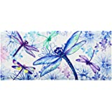 Evergreen Welcome Spring Decorative Mat Insert, 10 x 22 inches