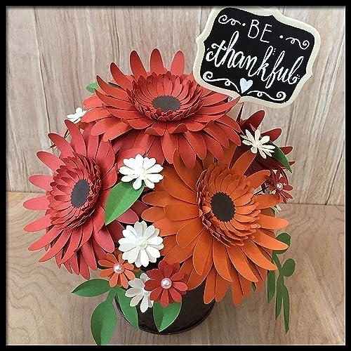Amazon fall paper flower arrangement red orange centerpiece fall paper flower arrangement red orange centerpiece mightylinksfo