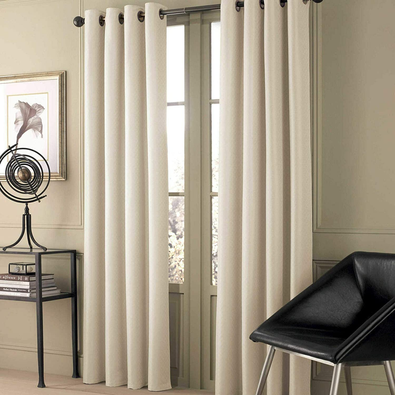 Valeron Stradivari 84-Inch Window Curtain Panel in White