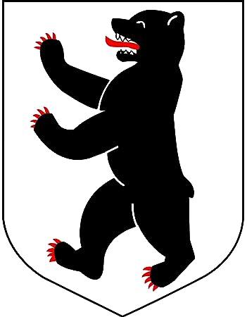 Aufkleber Berlin Wappen Berliner Bär Sticker Autoaufkleber Amazon