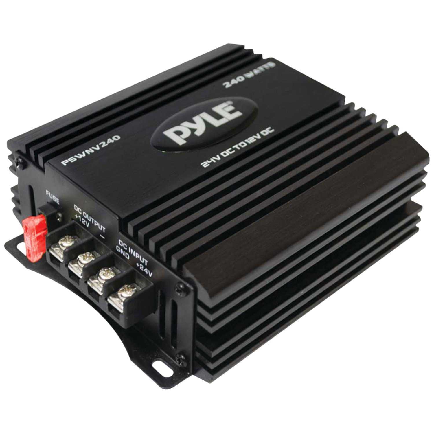 DC Power Step Down Converter - 24V to 12V 10A 240W Peak Universal Auto Mini DC-DC Voltage Step-Down Buck Converter Regulator Reducer Travel Adapter w/ PWM Technology, For Car RV Truck - Pyle PSWNV240 by Pyle