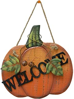 Amazoncom Yk Decor Fall Harvest Wooden Pumpkin Welcome Yard Stake