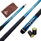 CUESOUL 58 Inch 19oz 1/2 Maple Billiard Stick Pool Cue Set 11.5mm/13mm Tip[Weight Adjustable]