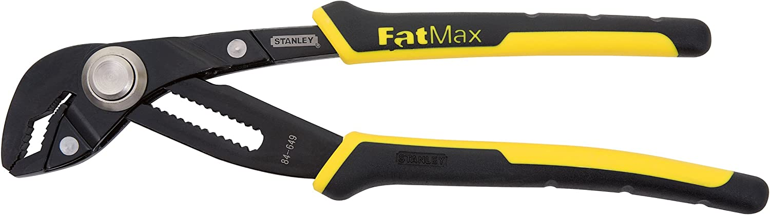 8-Inch STANLEY 84-647 FatMax Push Lock Groove Joint Pliers