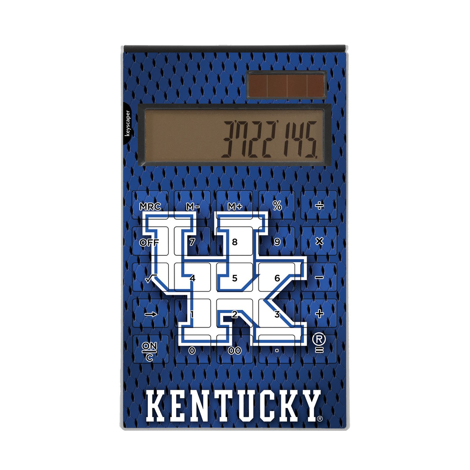 Kentucky Wildcats Desktop Calculator officially licensed by the University of Kentucky Full Size Large Button Solar by keyscaper®