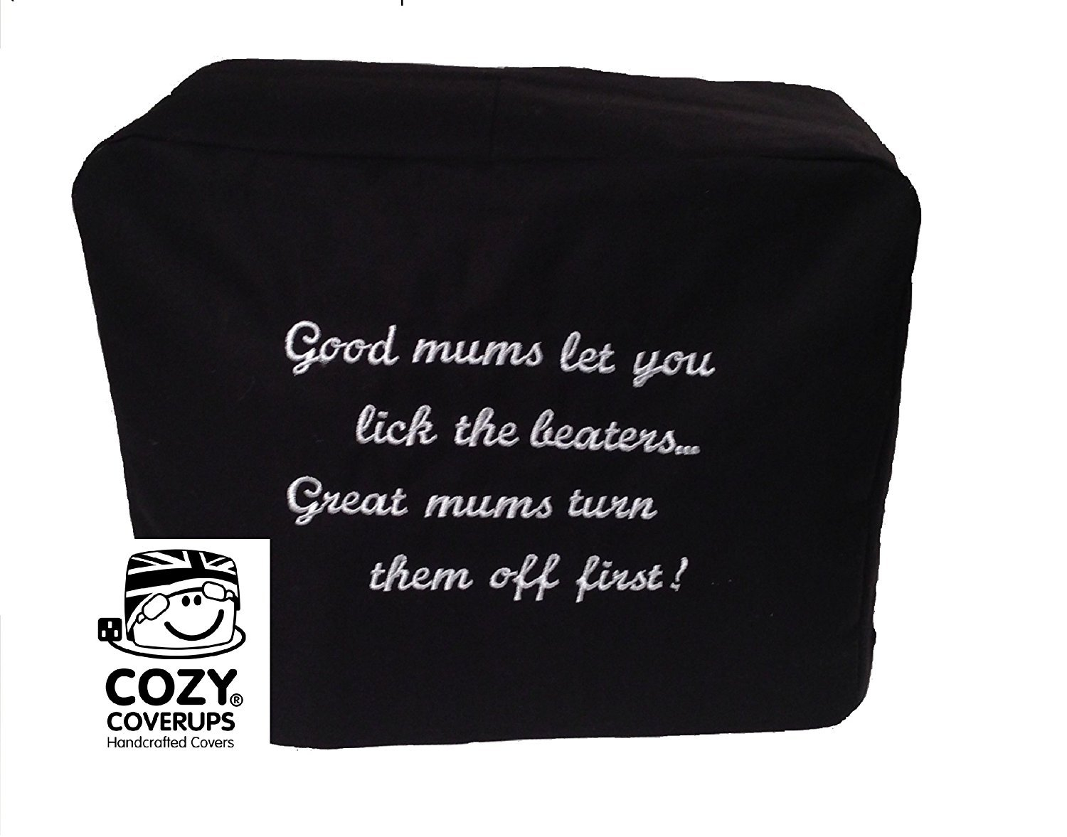 Kitchenaid Artisan CozyCoverUp® Black Embroidered Food Mixer Cover 100% Cotton CoolCozy Covers