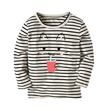 098c9a314d4a Vibola® Baby t-Shirt Long Sleeve Toddler Cartoon Cat Printing T-Shirt (