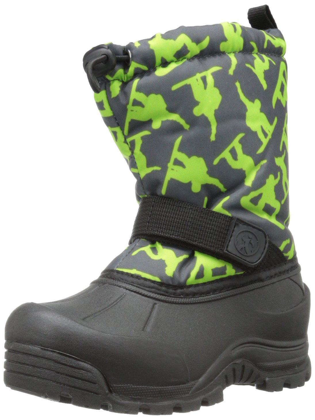 Northside Frosty Winter Boot (Toddler/Little Kid/Big Kid),Dark Grey/Green,1 M US Little Kid