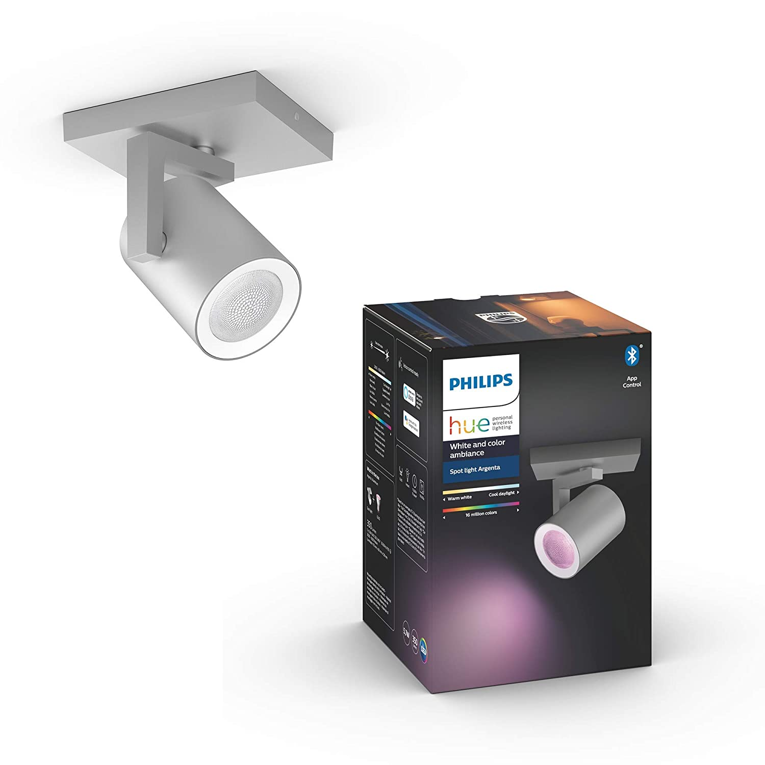 Philips Hue White & Color Ambiance Argenta Bluetooth 1er Spot