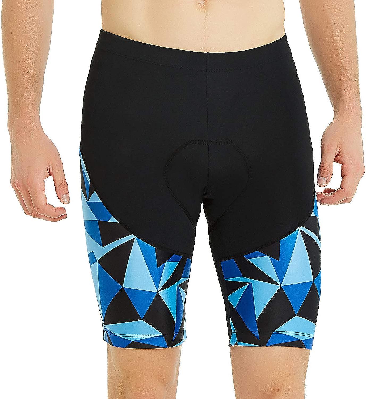 Santic Cycling Mens Shorts Biking Bicycle Bike Pants Half Pants 4D Coolmax Padded