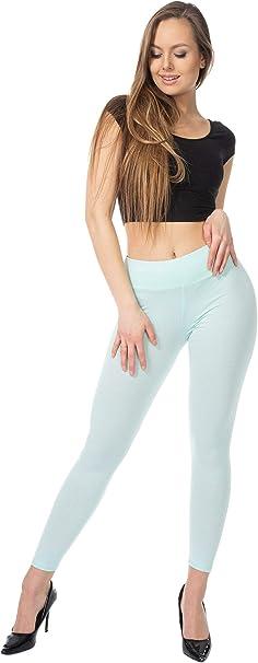 BENSINI Leggings de algodón de longitud completa para mujer ...