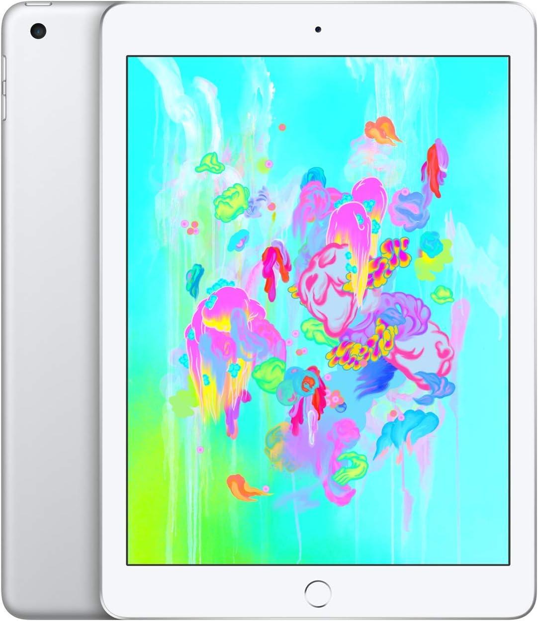 Apple iPad (Wi-Fi, 128GB) - Silver (Latest Model)