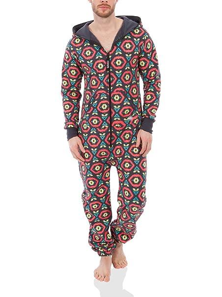 Zipups Mono-Pijama Rojo/Turquesa L