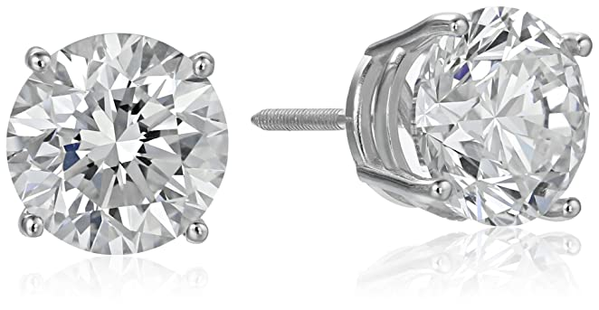 IGI Certified 18k White Gold Lab Diamond Stud Earrings (4 cttw, G-H Color, VS1-VS2 Clarity)