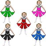 Cheerleader Fancy Dress Costume Girls High School Cheer Leader Uniform
