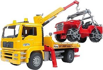 Bruder 02750 MAN TGA Abschlepp LKW mit Geländewagen | eBay