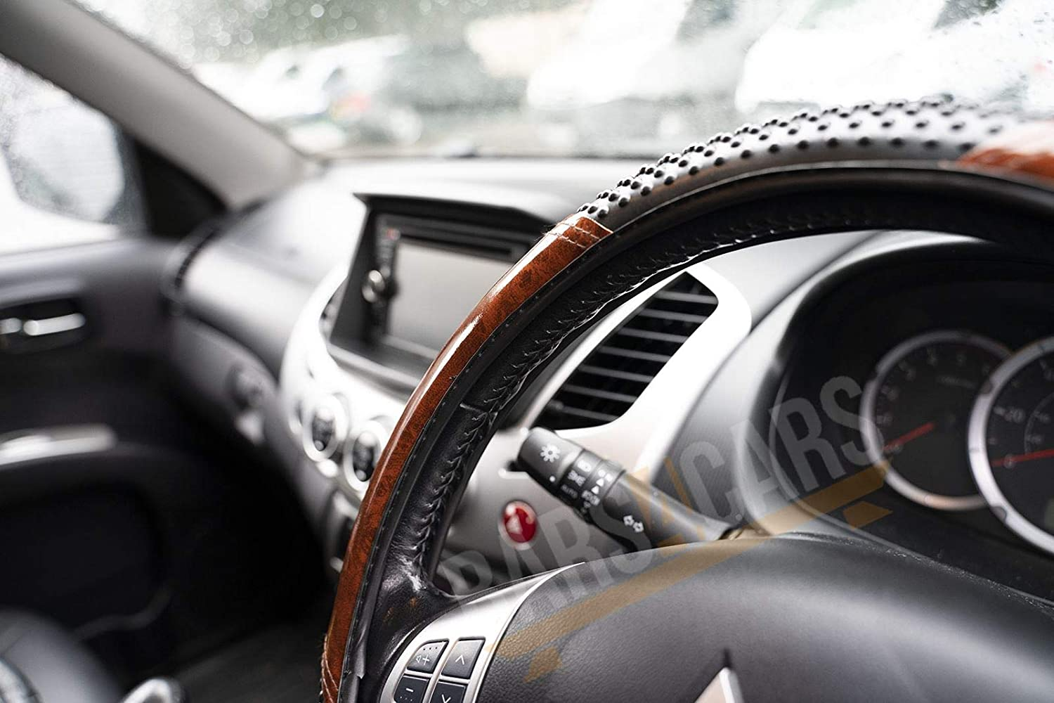 UKB4C Car Steering Wheel Cover Black /& Wood Look Effect fits Mercedes-Benz Cls All Yearas