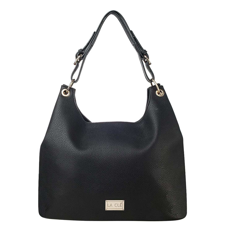 La Cle LA-057 Soft Leather Roomy Hobo Shoulder Bag